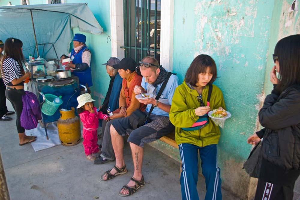 Cestovanie po Bolívii raňajky
