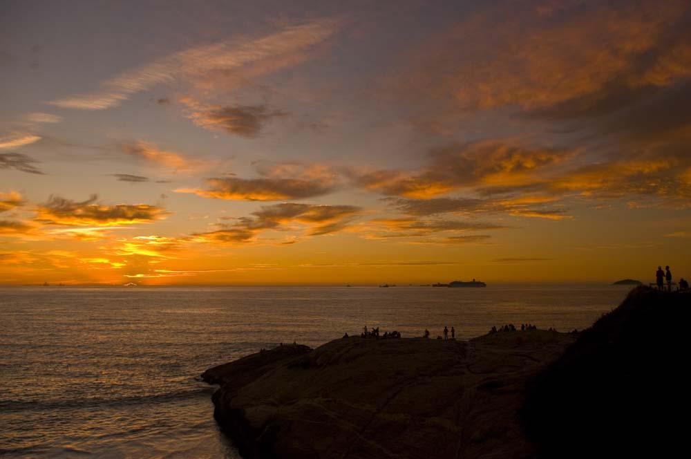 Cestovanie po Brazílii sunset