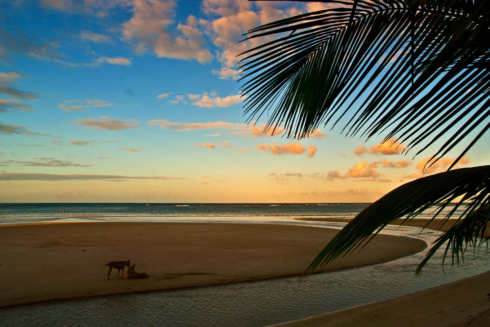 Cestovanie po Dominikánskej Republike západ slnka