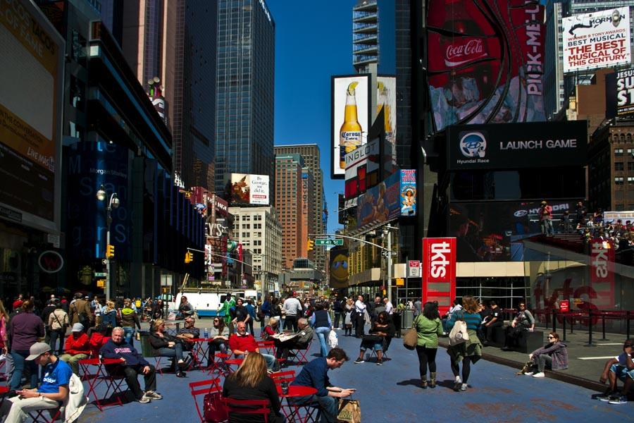 Cestovanie po Severnej Amerike Time Square