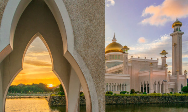 Brunej západ slnka