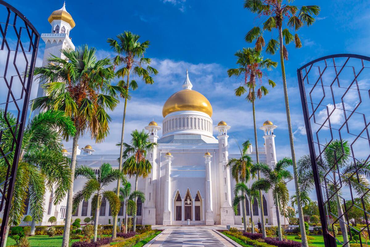 Brunej vstup do mešity