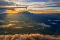 Kota Kinabalu výhľad z lietadla