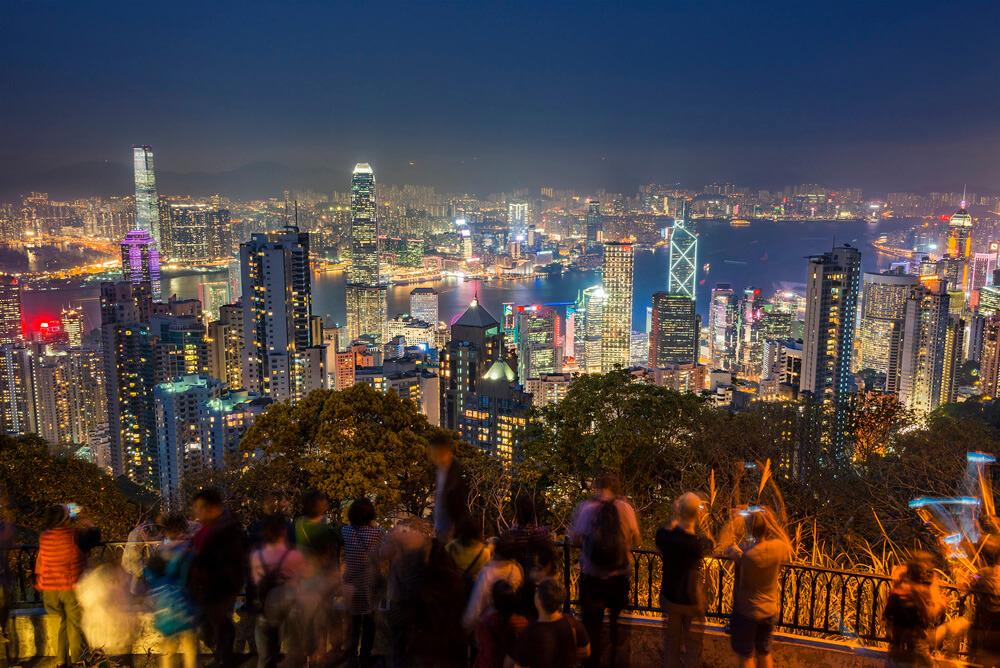 Hongkong v noci