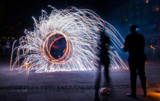 Gorlice mesto svetla ohňová šou